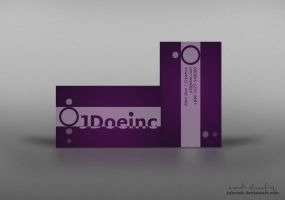 Sample Violet Business Card by inkrush