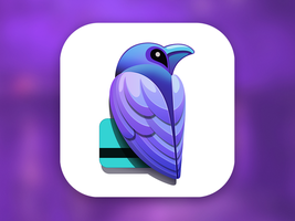 Raven iOS App Icon by Ramotion