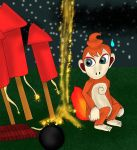 Chimchar and fireworks by kingofthedededes73