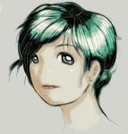Green hair by MountTrouble