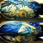 Bleach themed shoes Captain Toshiro HItsugaya by mandykat