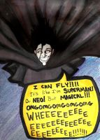 Magical flying snape by badash13