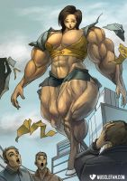 Weightless Weightlifter by female-muscle-comics