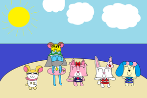 A fine day at the beach(Request) by PenelopeHamuChan