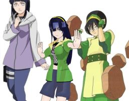 (Hintoph) Hinata Toph fusion by ultimate44