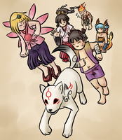 Okamiden Partners Wallpapers by nyachan93