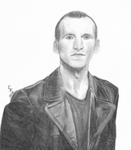 9th Doctor Portrait by ThePeculiarMissE