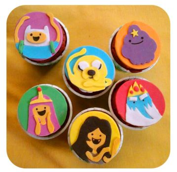 Adventure Time Cupcakes by sheilalala