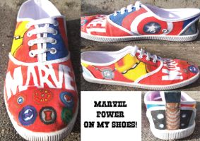 Marvel Shoes by AnnGhostwalker