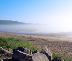 Fog on the morning beach by philippeL