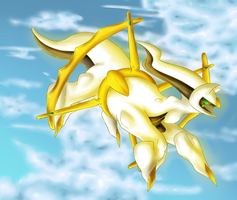 Arceus in the sky by yoshitaka