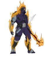 Request: Flaming Ninja by snowman-nisse