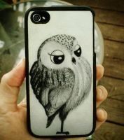 My little fancy owl iphone case by InkyDreamz