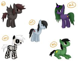 MLP Halloween Custom Pack - CLOSED by BenAdoptables