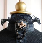 The Octopus Steampunk Brooch by RagDolliesMadhouse