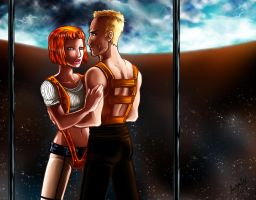 CC: Korben and Leeloo by DrMistyTang