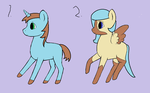 1 point pony adoptables by TheSteampunkPokemon