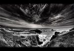Cote sauvage - black and white by ArtSouilleurs