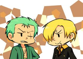 ZORO and SANJI by NuhFanik