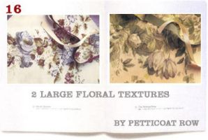 Large Floral Textures by petticoatrow