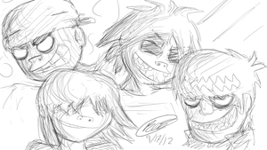Gorillaz Sketches by Twisted4000