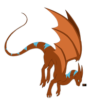 Dragon Cave- Whiptail Dragon by RedtheGamr