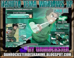 Rock Lee Theme Windows XP by Danrockster
