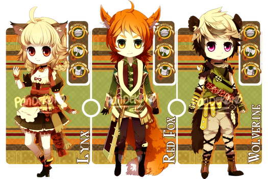 AUCTION: Adoptable Set 4 [CLOSE] by ERDJIE