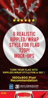 Rippled Flag Mockup (FREE) by zestladesign