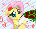 Valentine's day with cute fluttershy by VincentJiang0V0