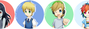 Fandom Buttons... by Kyoukouo