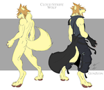 Cloud Strife Returns Wolf Form by GunZcon
