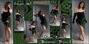 Green Corset -Barbarian Pack 1 by Onnagata-stock