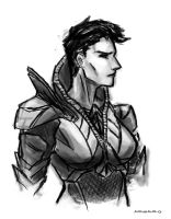 Faora Sketch by AndrewKwan