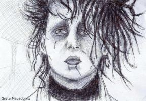 Greta Macedonio Edward Scissorhands Potrait by Greta13Macedonio