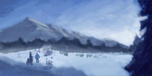 Landscape paintover 03 by JovDaRipper