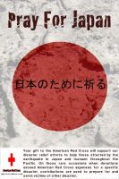 Pray For Japan - Red Cross by NimphiusDesigns