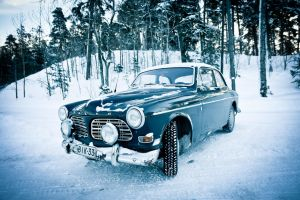 Car and winter by BIREL