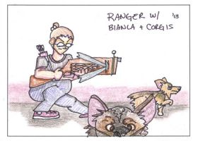 Ranger with Corgis by virusq