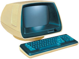 Retro Computer png by AbsurdWordPreferred
