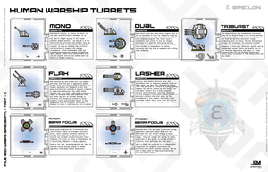 Human Ships Turret Hardpoints by Apocryphea