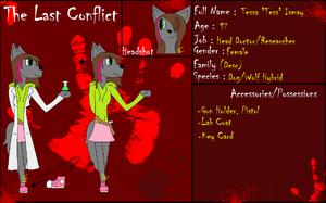 The Last Conflict Application-Tessa Ismay by 24Wolfy42