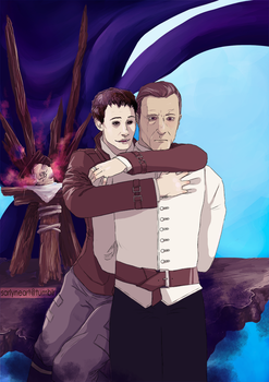 Dishonored: My poor Daud... by SarlyneART