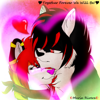 Maria And Torch Forver we will be by Mariatiger