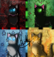 First four cats by Holly2001
