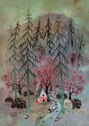 Little house in the woods by ullakko