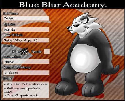 Blue Blue Academy: Yogo by Tails-McCloud
