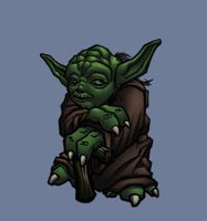 chibi yoda colored by shalomone
