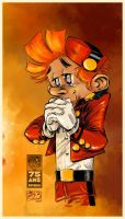 Spirou 75th Anniversary by Hagenmerac