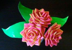 Yellow Trim Flowers by DuctileCreations